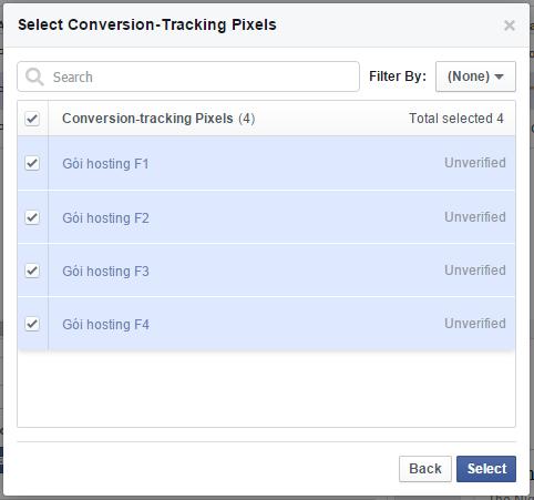 Hình 5: Chọn nhiều Conversion Tracking