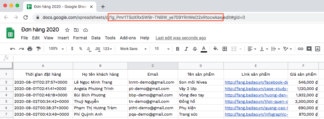 Email Marketing tự động bằng Google Sheet